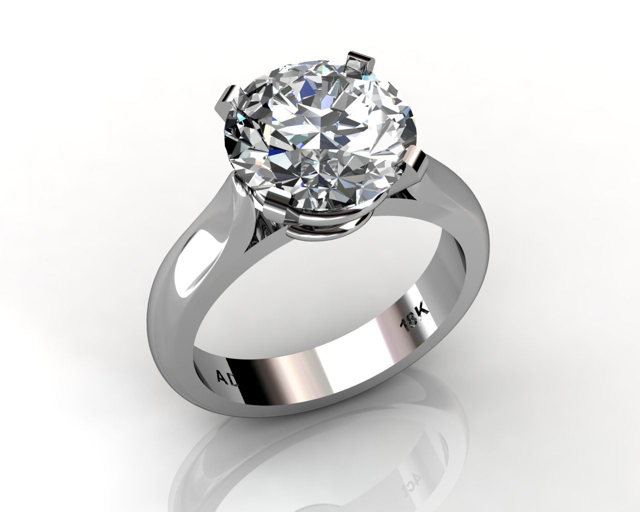 round cut diamond solitaire engagement wedding ring south bay gold -